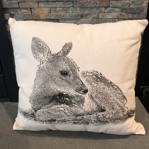 Other - Fawn Printed Cotton Throw Pillow